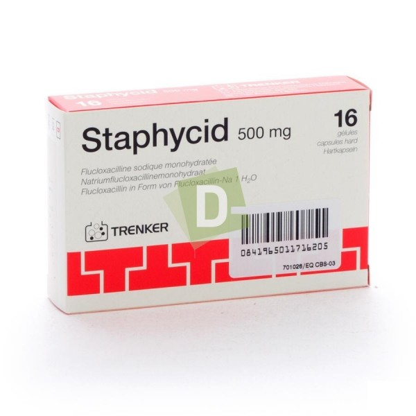 Staphycid 500 mg x 16 Gélules