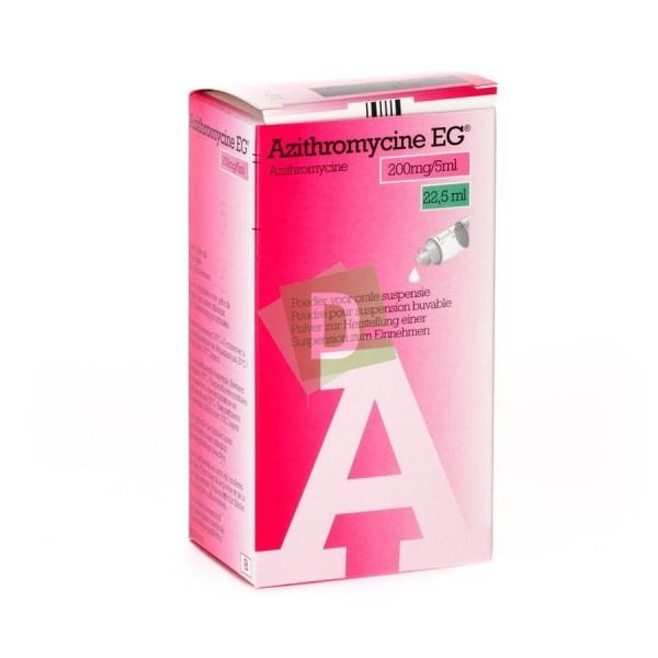 Azithromycin EG 200 mg / 5 ml Oral suspension (Syrup) 22.5 ml