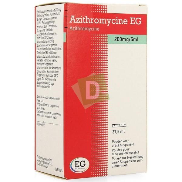 Azithromycin EG 200 mg / 5 ml Oral suspension (Syrup) 37.5 ml