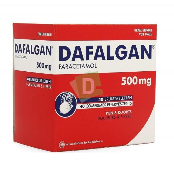 Dafalgan 500 mg x 40 Tablets Efferv : Against pain and fiever
