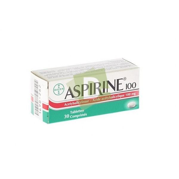 Aspirin 100 mg x 30 Tablets: Dilates blood vessels