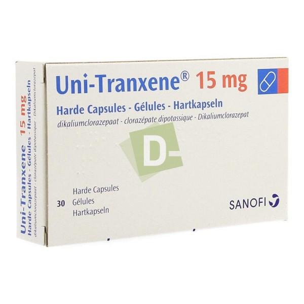 Uni-Tranxene 15 mg x 30 Gélules