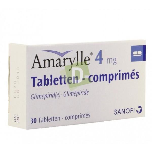 Amaryl 4 mg x 30 Tablets: Medication that lowers blood sugar levels
