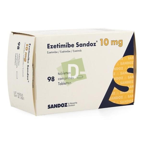 Ezetimibe Sandoz 10 mg x 90 Comprimés