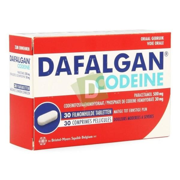 Dafalgan Codéïne (Paracétamol) 500 mg / 30 mg x 30 Comprimés : Contre la douleur et la fièvre