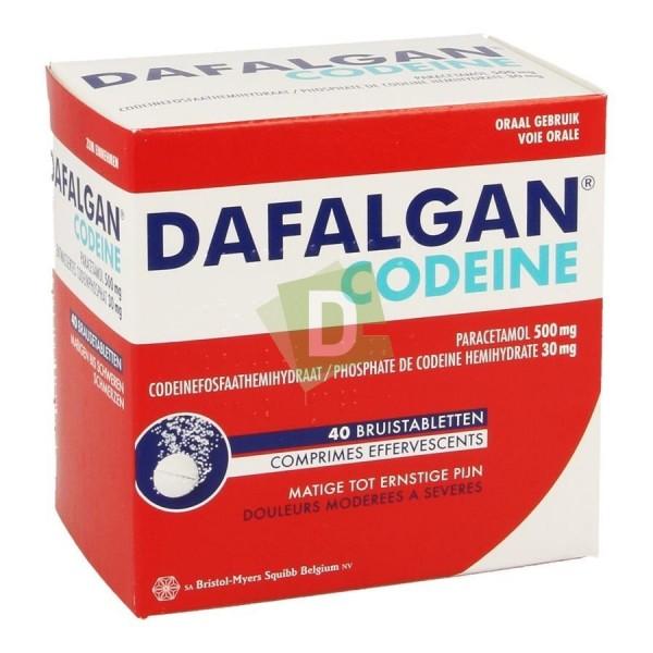 Dafalgan Codeïne (Paracetamol) 500 mg / 30 mg x 40 Efferv Tablets: Against pain and fever