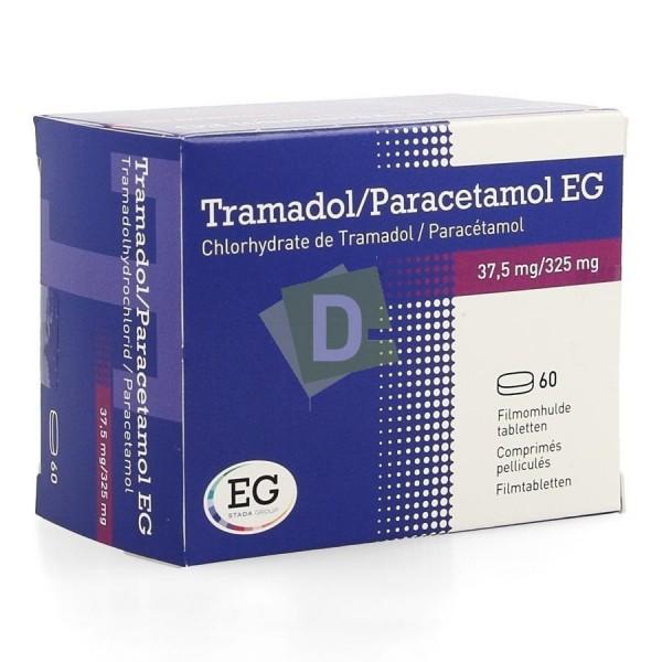 Tramadol / Paracétamol EG 37.5 mg / 325 mg x 60 Comprimés