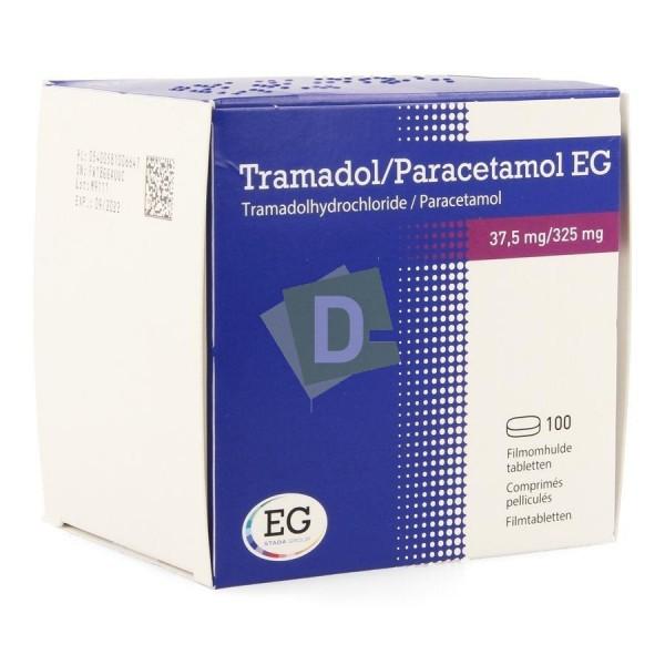 Tramadol / Paracétamol EG 37.5 mg / 325 mg x 100 Comprimés