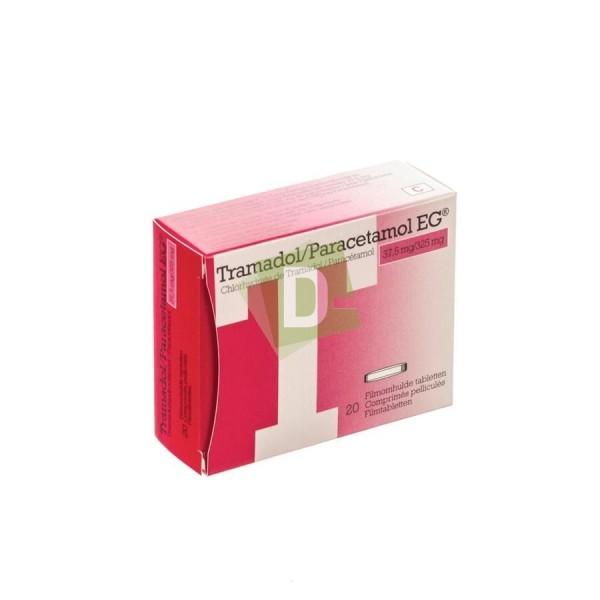 Tramadol / Paracétamol EG 37.5 mg / 325 mg x 20 Comprimés