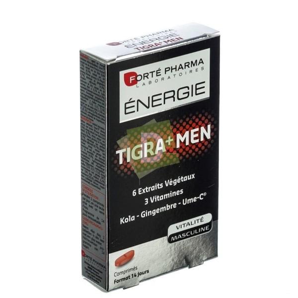Energie Tigra+ men x 28 Comprimés : Aide à optimiser les performances masculines et favoriser l'épanouissement global de l'homme