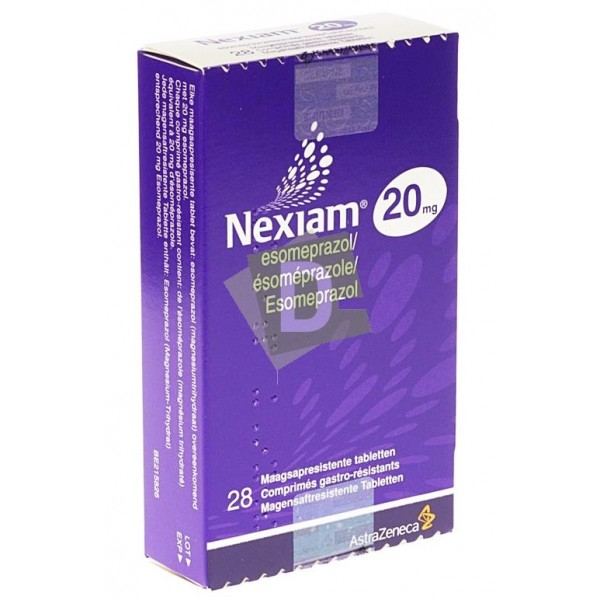 Nexiam 20 mg x 28 Comprimés gastro-résistants : Maladie du reflux gastro-oesophagien