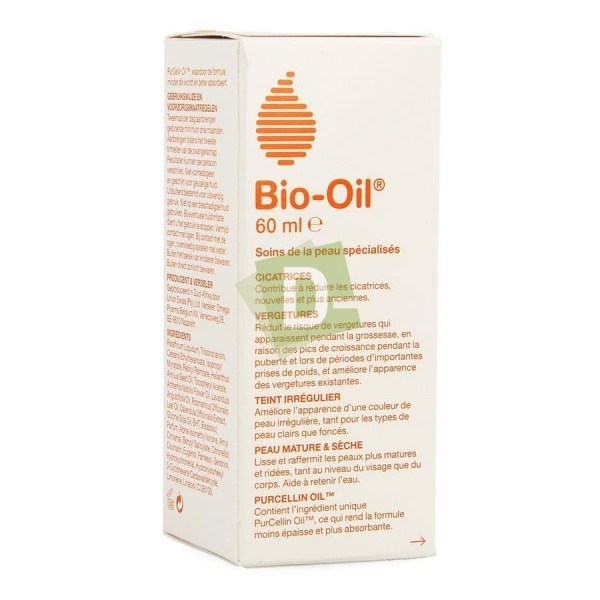 Bio-Oil Huile Régénératrice 60 ml : Améliore l'apparence des cicatrices, des vergetures et du teint irrégulier