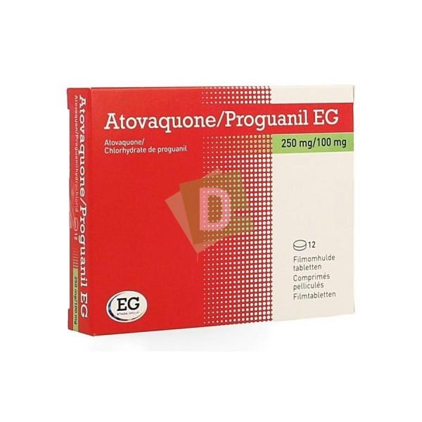 Atovaquone / Proguanil EG 250 mg / 100 mg x 12 Comprimés