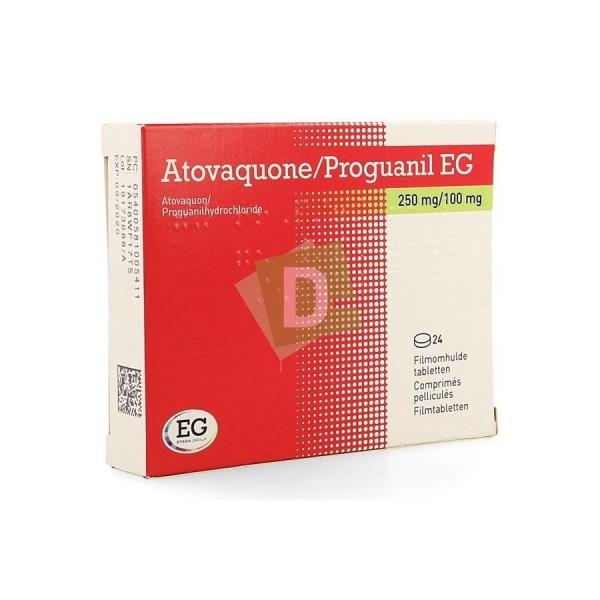 Atovaquone / Proguanil EG 250 mg / 100 mg x 24 Comprimés