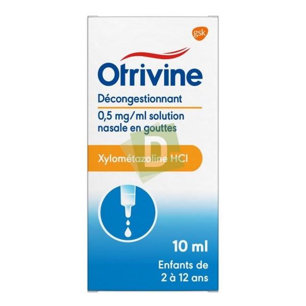 Otrivine Hydrat Goutte Nasal 10 ml : Décongestionnant