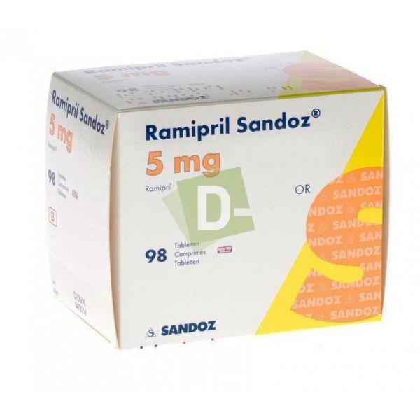 Ramipril Sandoz 5 mg x 98 Comprimés