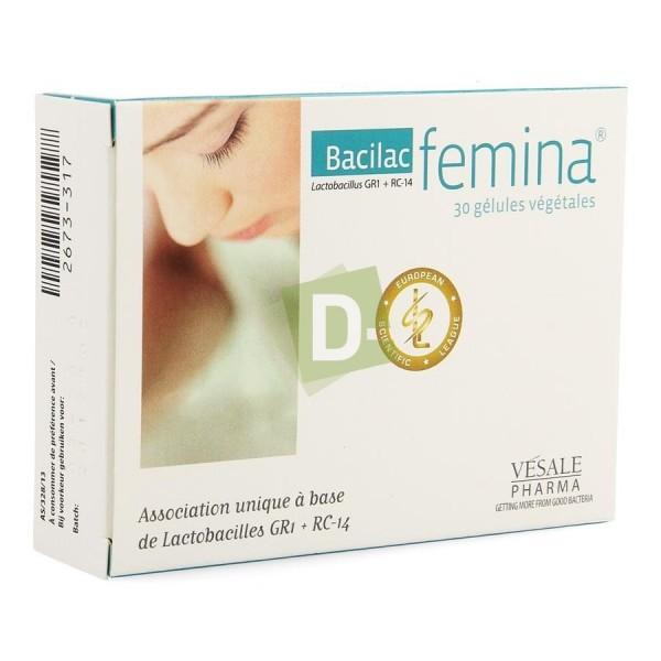Bacilac Femina 30 Gélules Végétales : Maintenir une flore intime en bonne santé