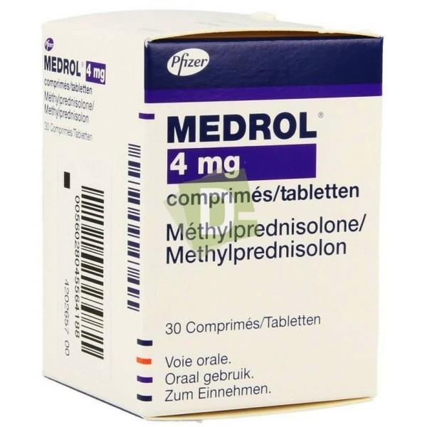Medrol 4 mg x 30 Comprimés : Affections rhumatismales, comme adjuvant pour une utilisation de courte durée