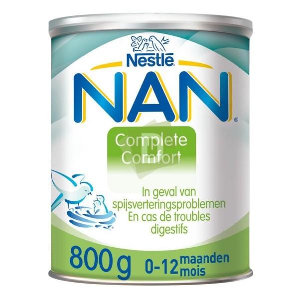 Nan Complet Comfort (0-12 mois) Lait Nourrison Poudre 800 g