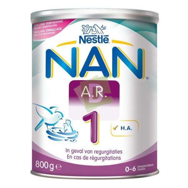 Nan AR 1 (0-6 mois) Lait Première Âge Poudre 800 g