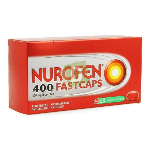 Nurofen (Ibuprofène) Fastcaps 400 mg x 20 Comprimés enrobés