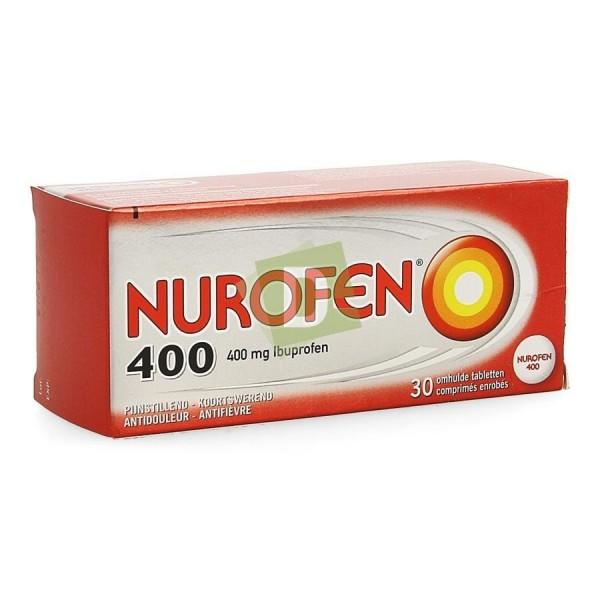 Nurofen (Ibuprofène) 400 mg x 30 Comprimés enrobés