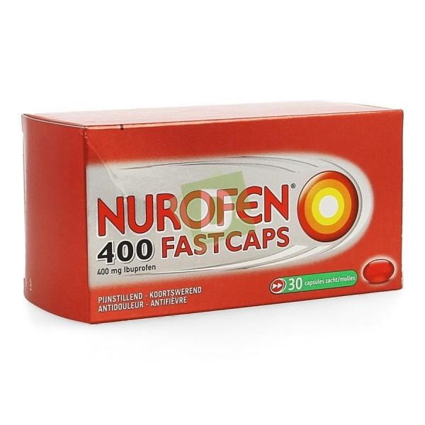 Nurofen (Ibuprofène) Fastcaps 400 mg x 30 Comprimés enrobés