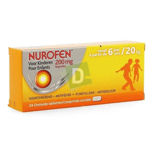 Nurofen (Ibuprofène) Enfants 200 mg x 24 Comprimés enrobés