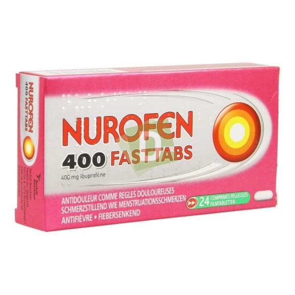 Nurofen (Ibuprofène) Fasttabs 400 mg x 24 Comprimés enrobés