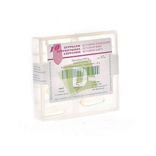 Glycerine BB FAG x 10 Suppo : Suppositoires à base de glycérine à usage rectal pour traiter la constipation.