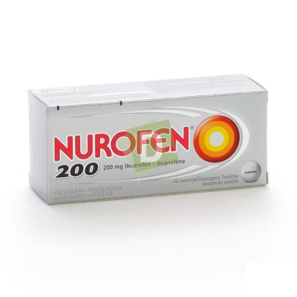 Nurofen (Ibuprofène) 200 mg x 48 Comprimés enrobés