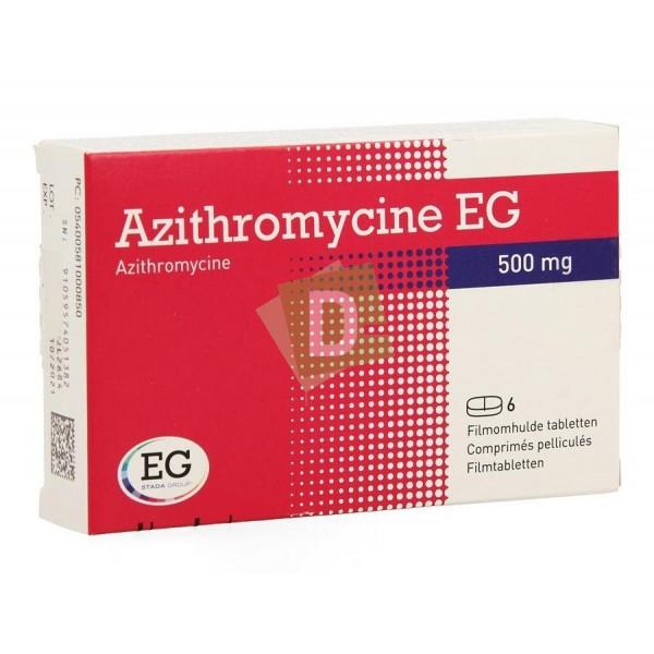 Azithromycine EG 500 mg x 6 Comprimés : Traite les infections des voies respiratoires