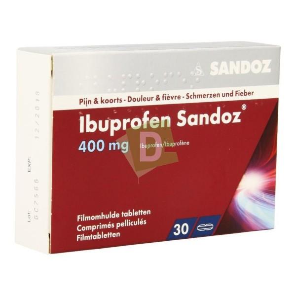 Ibuprofen Sandoz 400 mg x 30 Coated tablets