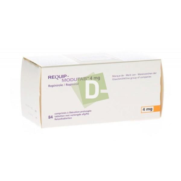 Requip Modutab 4 mg x 84 Comprimés : Maladie de Parkinson