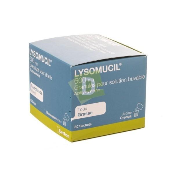 Lysomucil Granulés 600 mg x 60 Sachets : Contre la taux grasse