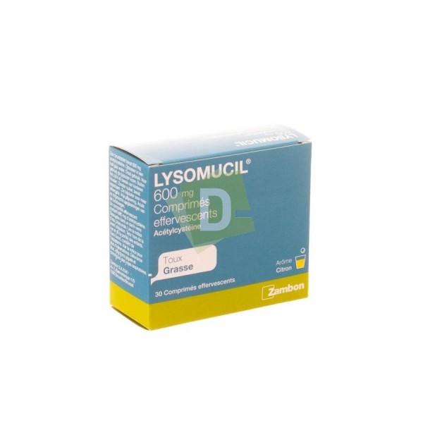 Lysomucil 600 mg x 30 Comprimés Efferv : Contre la taux grasse