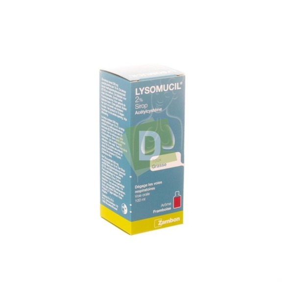 Lysomucil Junior 2% Sirop 100 ml : Contre la taux grasse