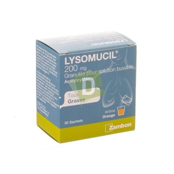 Lysomucil Granulés 200 mg x 30 Sachets : Contre la taux grasse
