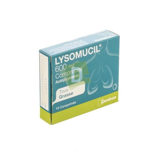 Lysomucil 600 mg x 10 Comprimés : Contre la taux grasse