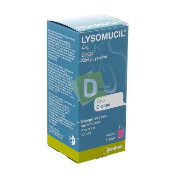 Lysomucil 4% Sirop 200 ml : Dégage les voies respiratoires