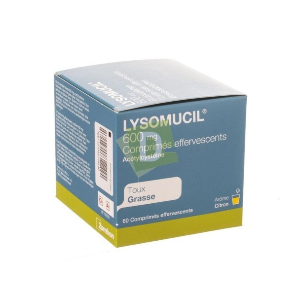 copy of Lysomucil 600 mg x 14 Comprimés effervescents : Contre la taux grasse