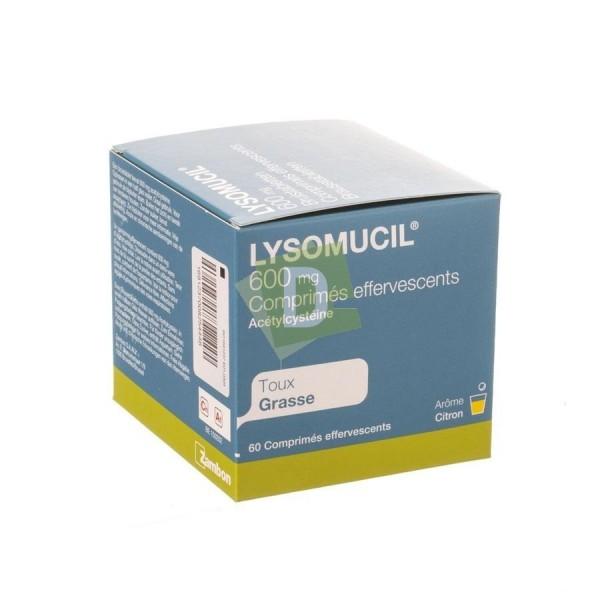 Lysomucil 600 mg x 60 Comprimés Efferv : Contre la taux grasse