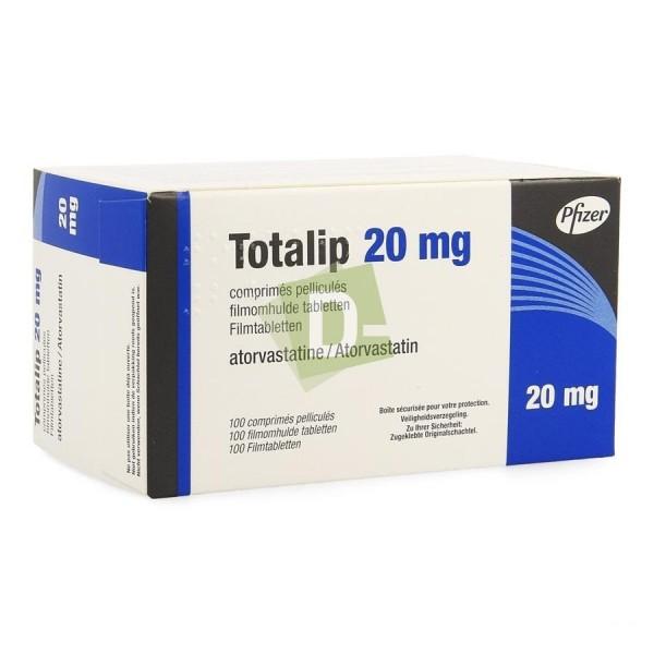 Totalip (Atorvastatine) 20 mg x 100 Comprimés pelliculés