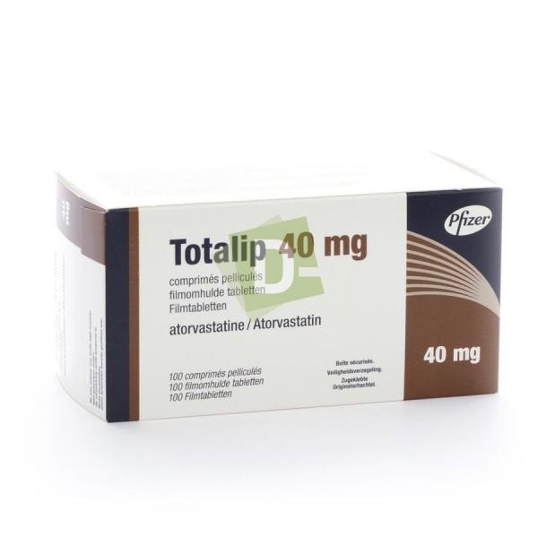 Totalip (Atorvastatine) 40 mg x 100 Comprimés pelliculés