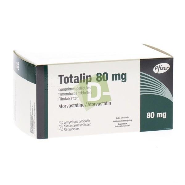 Totalip (Atorvastatine) 80 mg x 100 Comprimés pelliculés