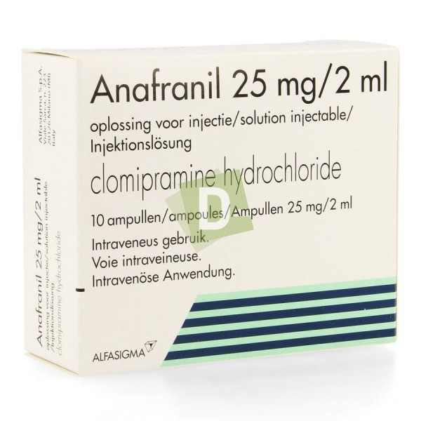 Anafranil Injection 25 mg / 2 ml x 10 Ampoules