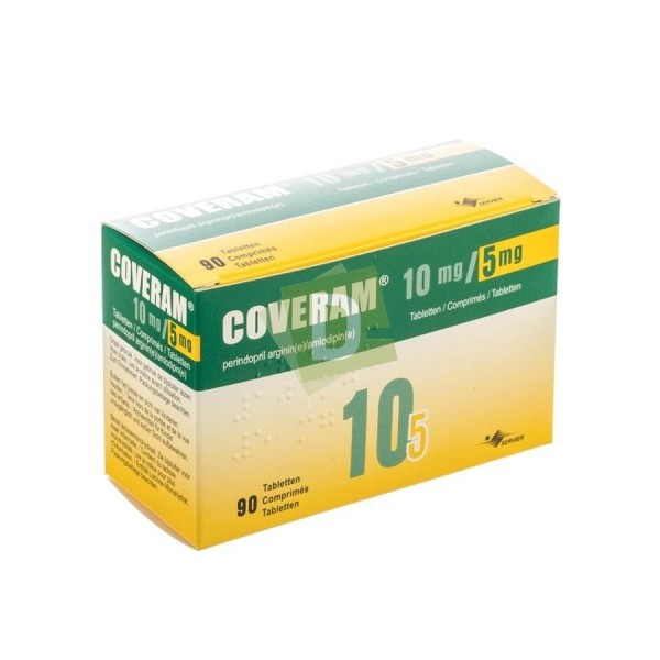 Coveram 5 mg / 5 mg x 90 Tablets: Treatment of essential hypertension