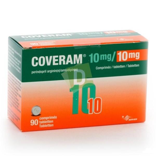 Coveram 10 mg / 10 mg x 90 Comprimés : Traite l'hypertension artérielle essentielle