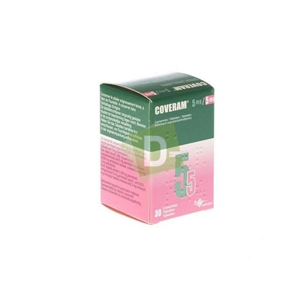Coveram 5 mg / 5 mg x 30 Comprimés : Traite l'hypertension artérielle essentielle