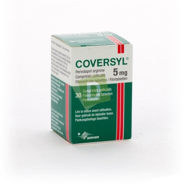 Coversyl 5 mg x 30 Film-coated tablets